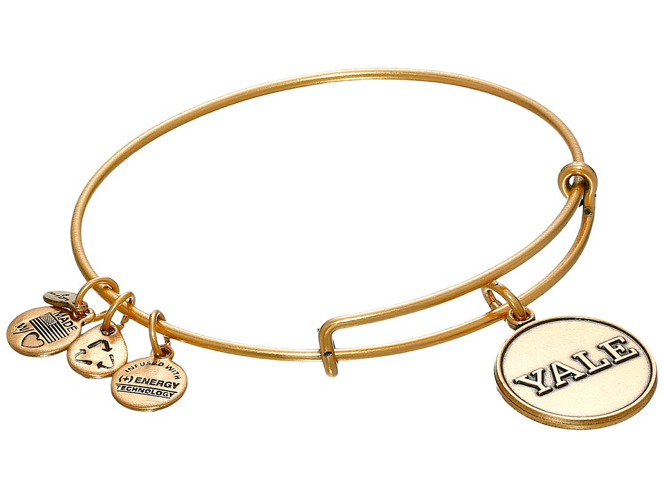Alex and Ani - Yale University Logo Charm Bangle (Rafaelian Gold Finish) Bracelet