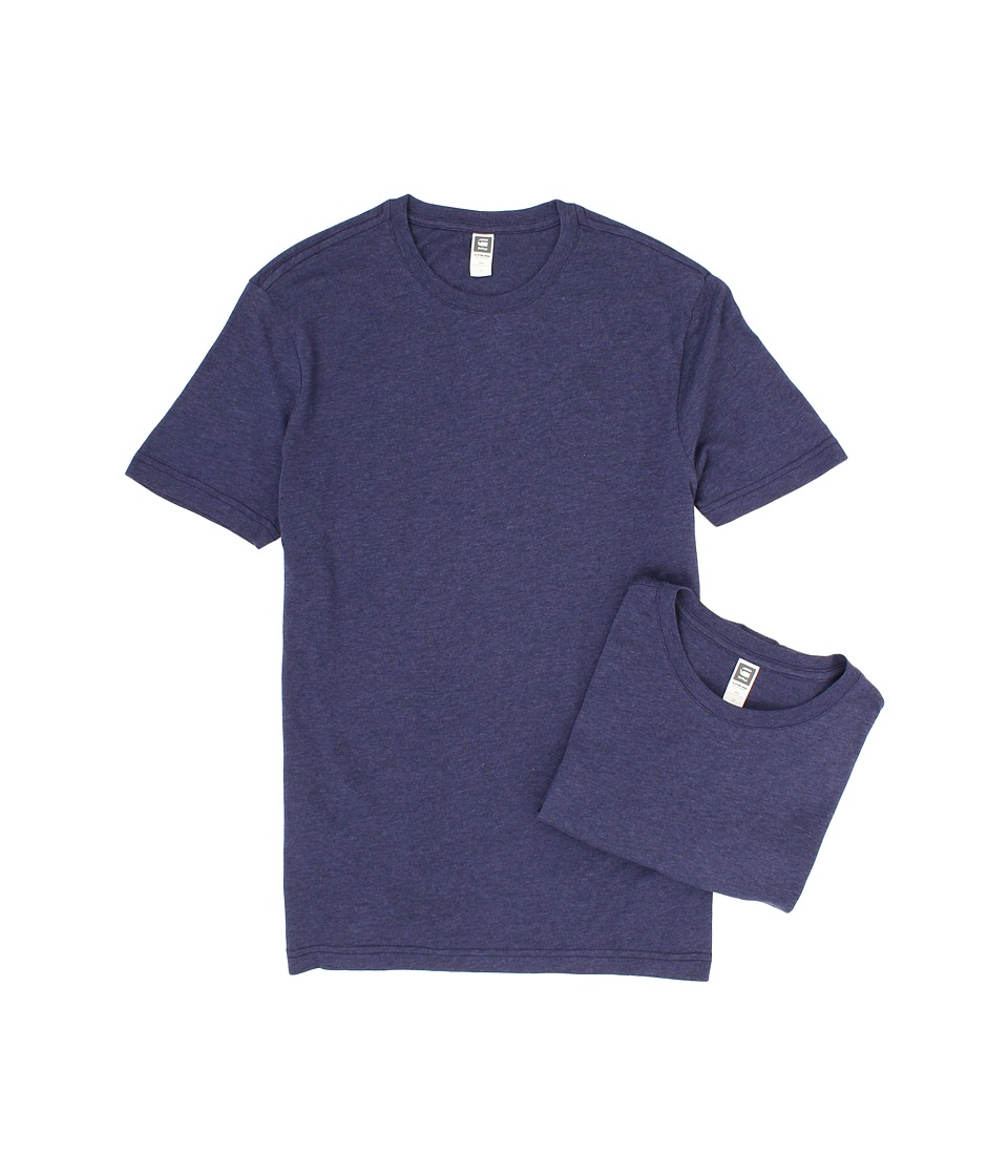 G-Star - Base Heather R S/S Tee 2-Pack (Shade) Men's T Shirt