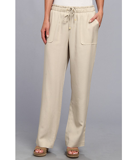 TWO by Vince Camuto - Textured Tencel Two-Pocket Drawstring Pant (Cashew) Women