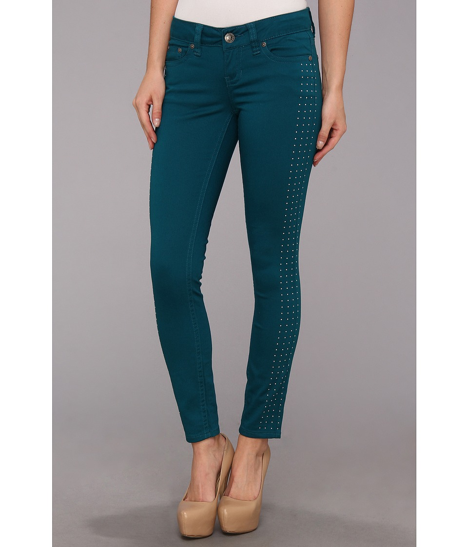 Request - Juniors Twill Pants in Peacock (Peacock) Women's Jeans