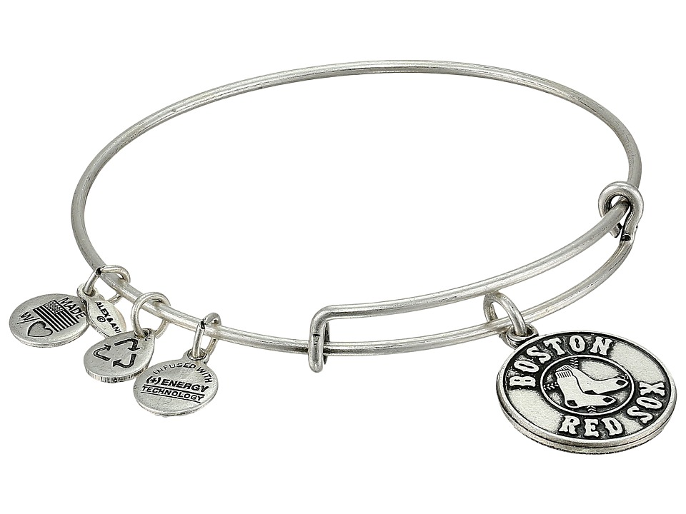 Alex and Ani - MLB(r) Boston Red Soxtm Charm Bangle (Rafaelian Silver Finish/Primary Logo) Bracelet