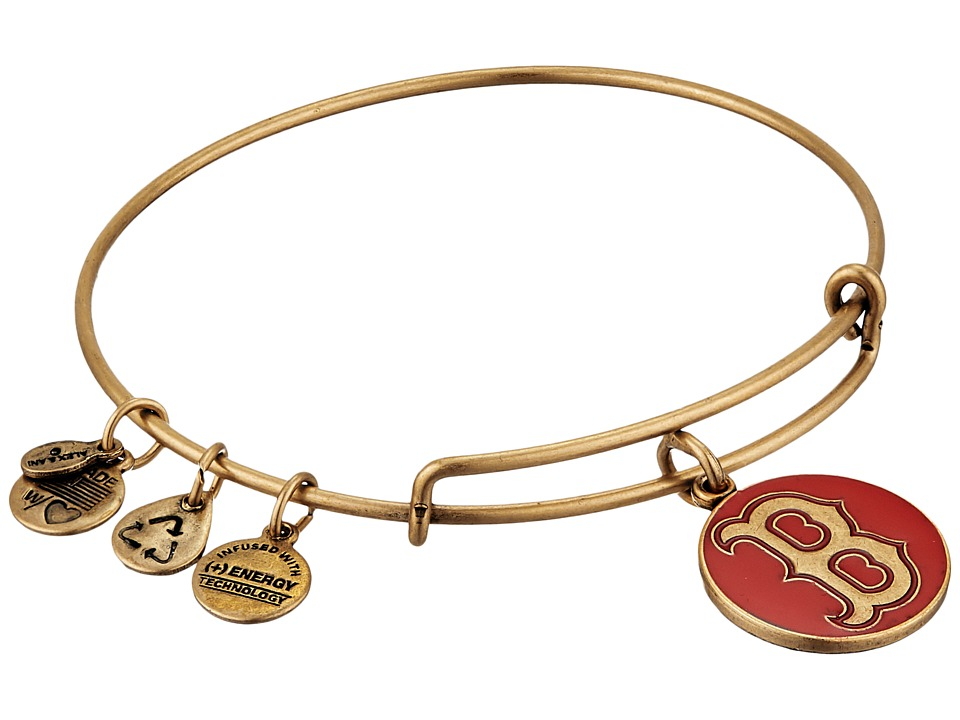 Alex and Ani - MLB Boston Red Sox Charm Bangle (Rafaelian Gold Finish/Red Charm) Bracelet