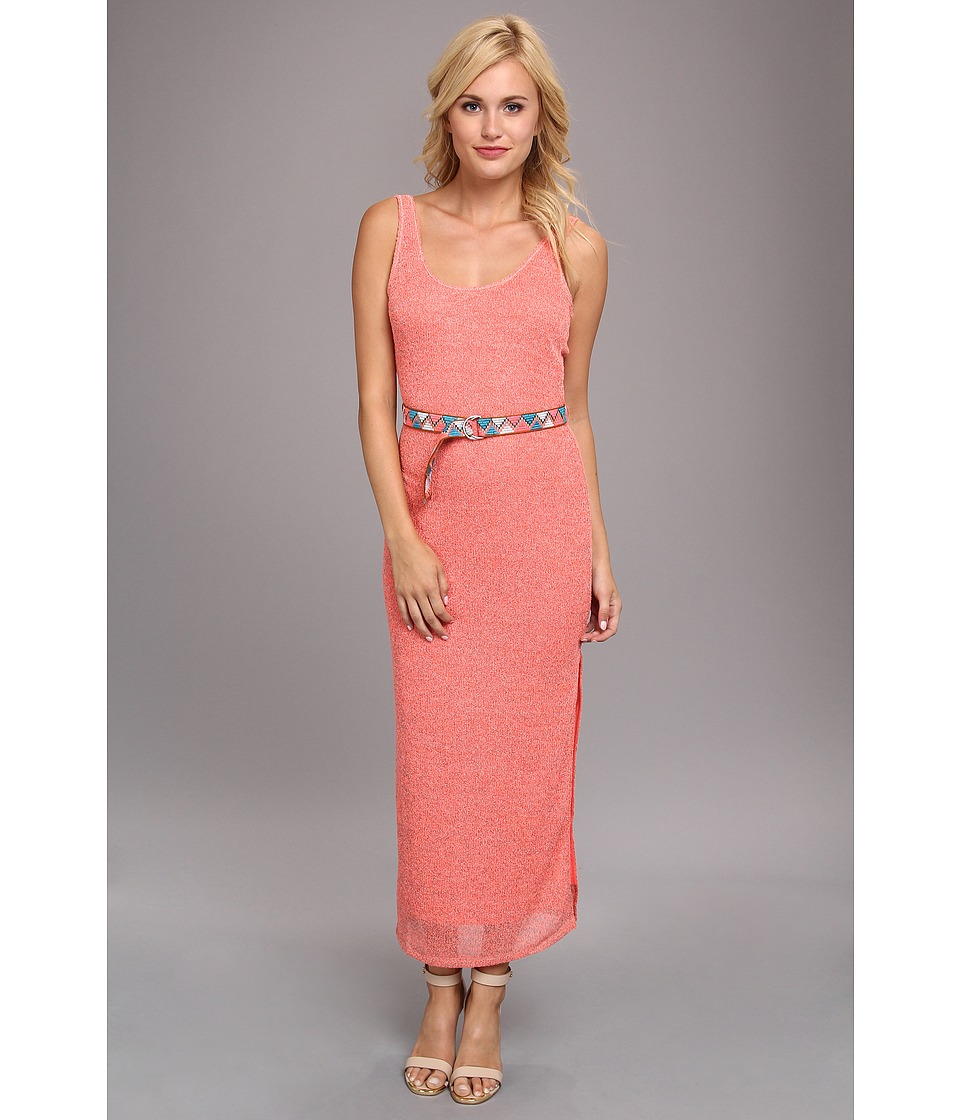 DV by Dolce Vita - Knit Dress With Belt (Neon Pink) Women's Dress