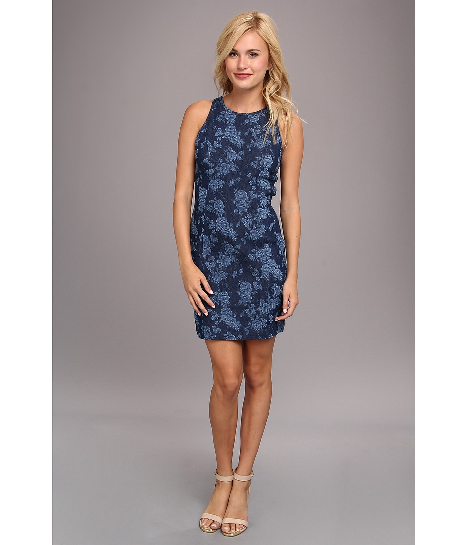 DV by Dolce Vita - Floral Denim Dress (Navy) Women's Dress
