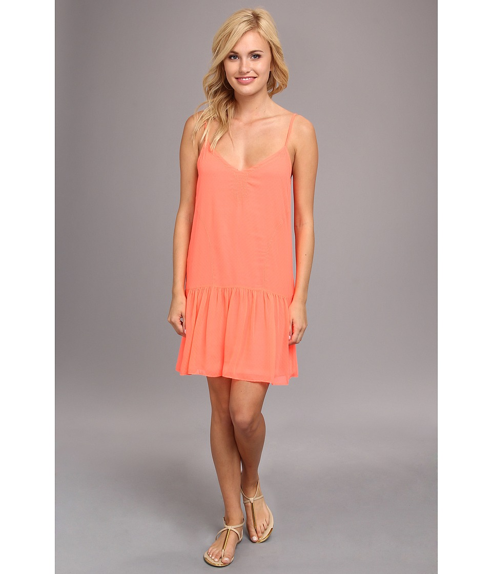 DV by Dolce Vita - Drop Waist Tank Dress (Neon Coral) Women