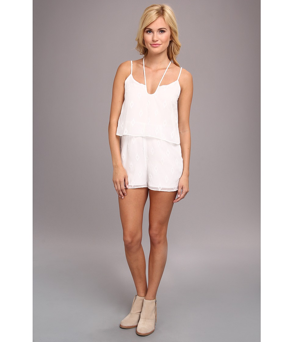 DV by Dolce Vita - Tier Romper (White) Women's Jumpsuit & Rompers One Piece