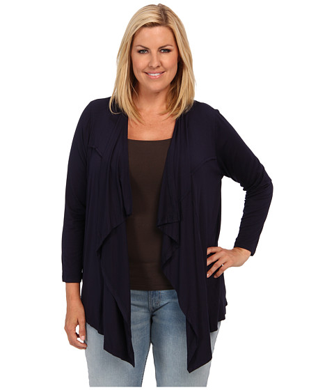 Karen Kane Plus - Plus Size Outside Seam Cardigan (Navy) Women