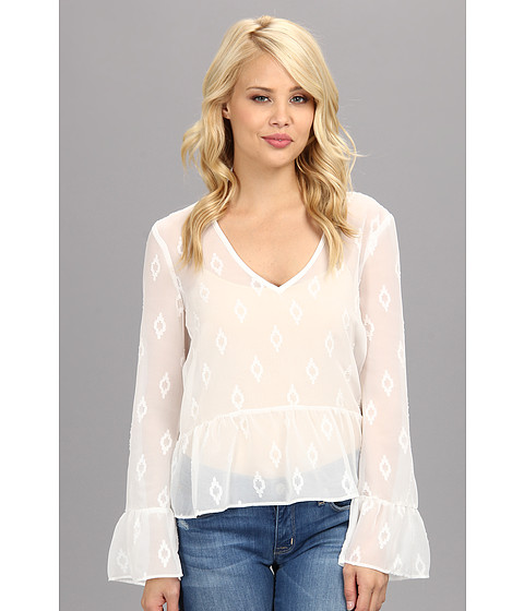 DV by Dolce Vita - Bell Sleeve Top (White) Women's Blouse