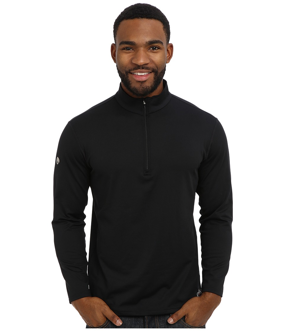 Hot Chillys - Micro-Elite Chamois 8K Zip-T (Black) Men's T Shirt