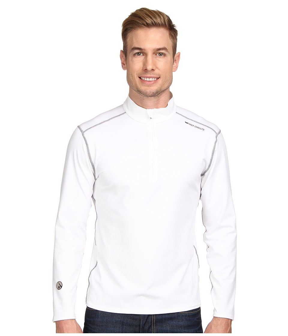 Hot Chillys - Micro-Elite Chamois 8K Zip-T (White) Men's T Shirt