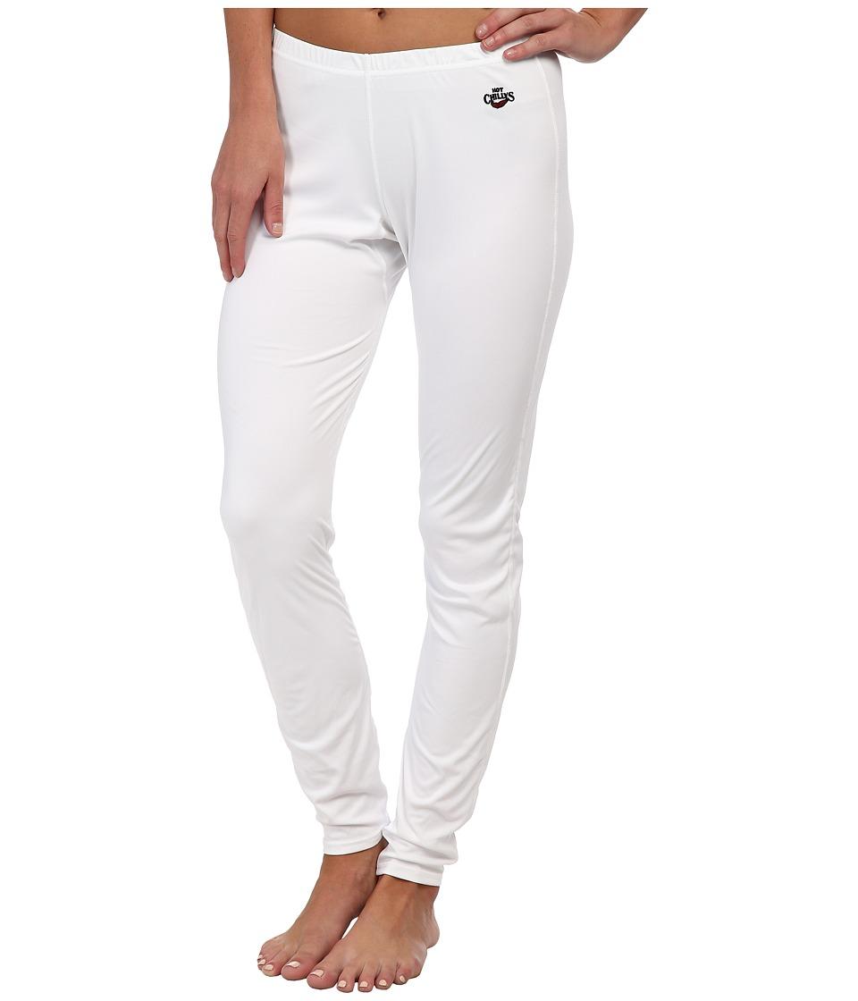 Hot Chillys - Low Rise Bottoms Peachskins (White) Women's Underwear