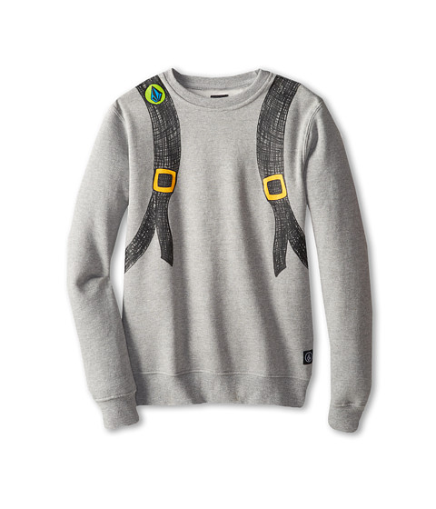 Volcom Kids - Reconeryo Crew (Big Kids) (Heather Grey) Boy's Sweatshirt