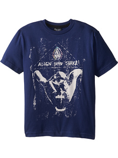 SALE! $9.99 - Save $6 on Volcom Kids Align Your Shaka Tee (Little Kids) (Midnight Blue) Apparel - 37.56% OFF $16.00