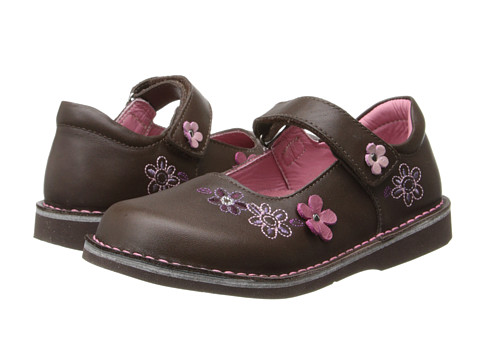 Kid Express - Christine (Toddler/Little kid/Big Kid) (Dark Brown Leather) Girl's Shoes