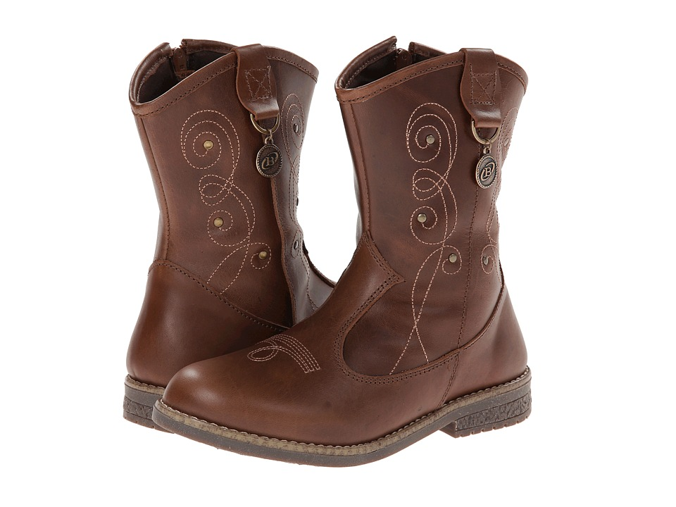 Kid Express - Sonnet (Toddler/Little Kid/Big kid) (Dark Brown Leather) Girls Shoes