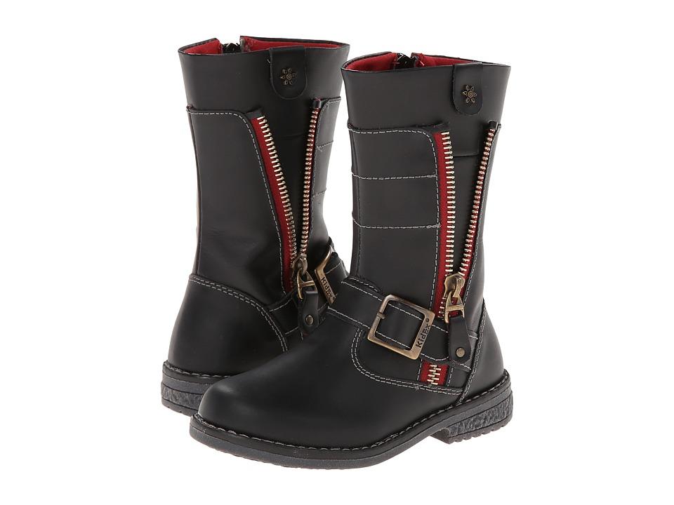 Kid Express - Archer (Toddler/Little Kid/Big kid) (Black Leather) Girls Shoes