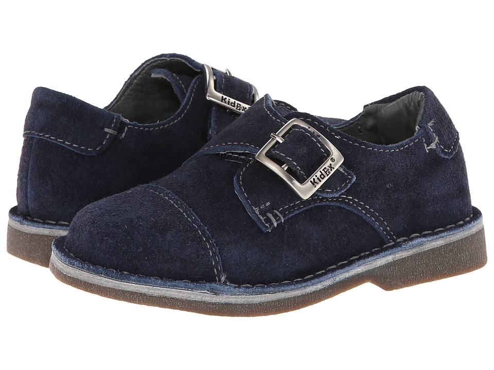 Kid Express - Marc (Toddler/Little Kid/Big Kid) (Navy Suede) Boy's Shoes