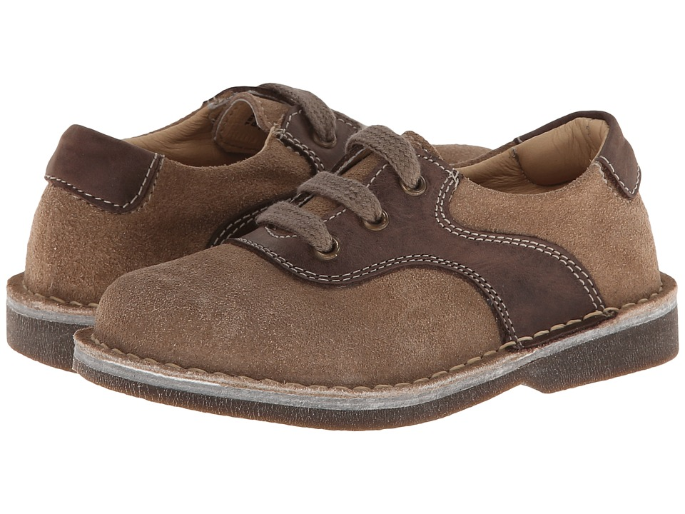 Kid Express - Ryan (Toddler/Little Kid/Big Kid) (Tan/Dark Brown) Boy's Shoes