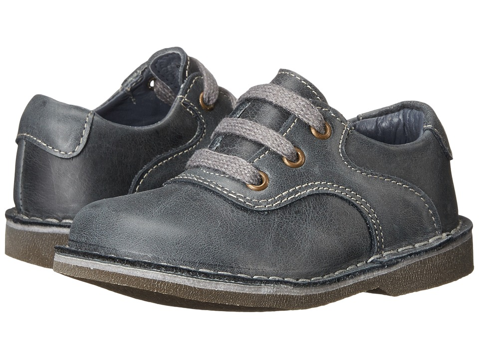 Kid Express - Ryan (Toddler/Little Kid/Big Kid) (Gray Leather) Boy's Shoes