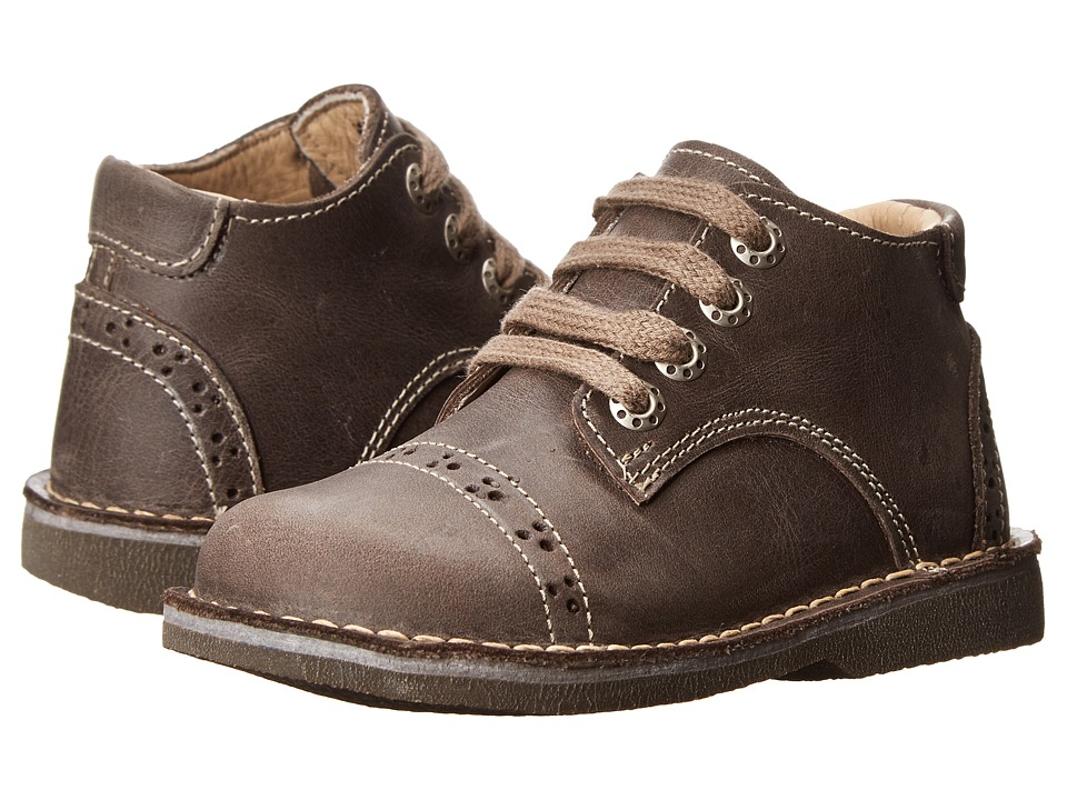 Kid Express - Easton (Toddler/Little Kid/Big Kid) (Dark Brown Leather) Boy's Shoes