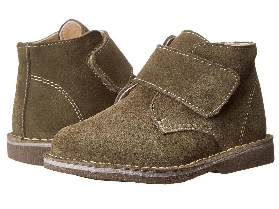 Kid Express - Maddox (Toddler/Little Kid/Big Kid) (Olive Green Suede) Boy's Shoes