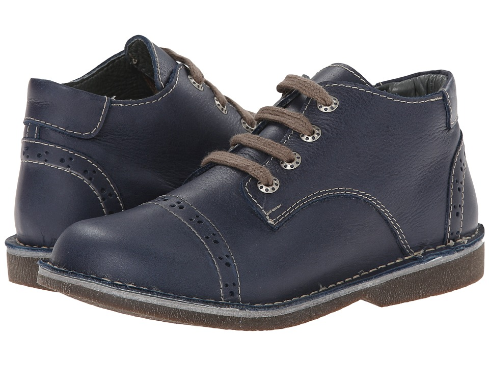 Kid Express - Easton (Toddler/Little Kid/Big Kid) (Navy Leather) Boy's Shoes