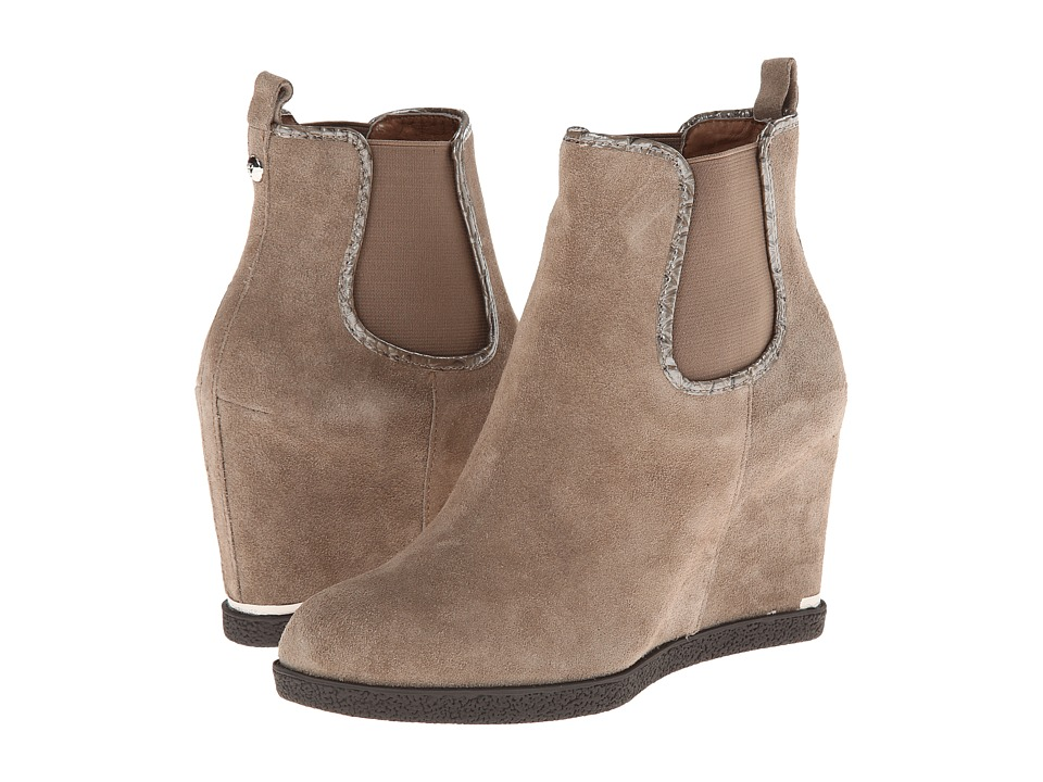 Donald J Pliner - Dillon (Taupe Oily Suede) Women's Wedge Shoes