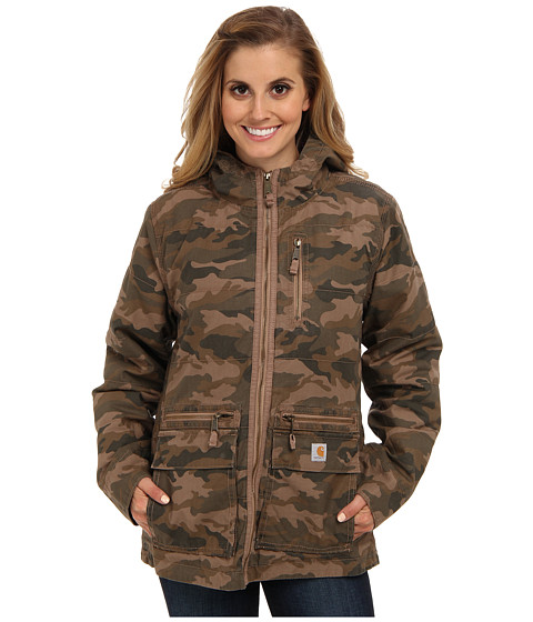 Carhartt - Gallatin Jacket (Camo Green) Women's Coat