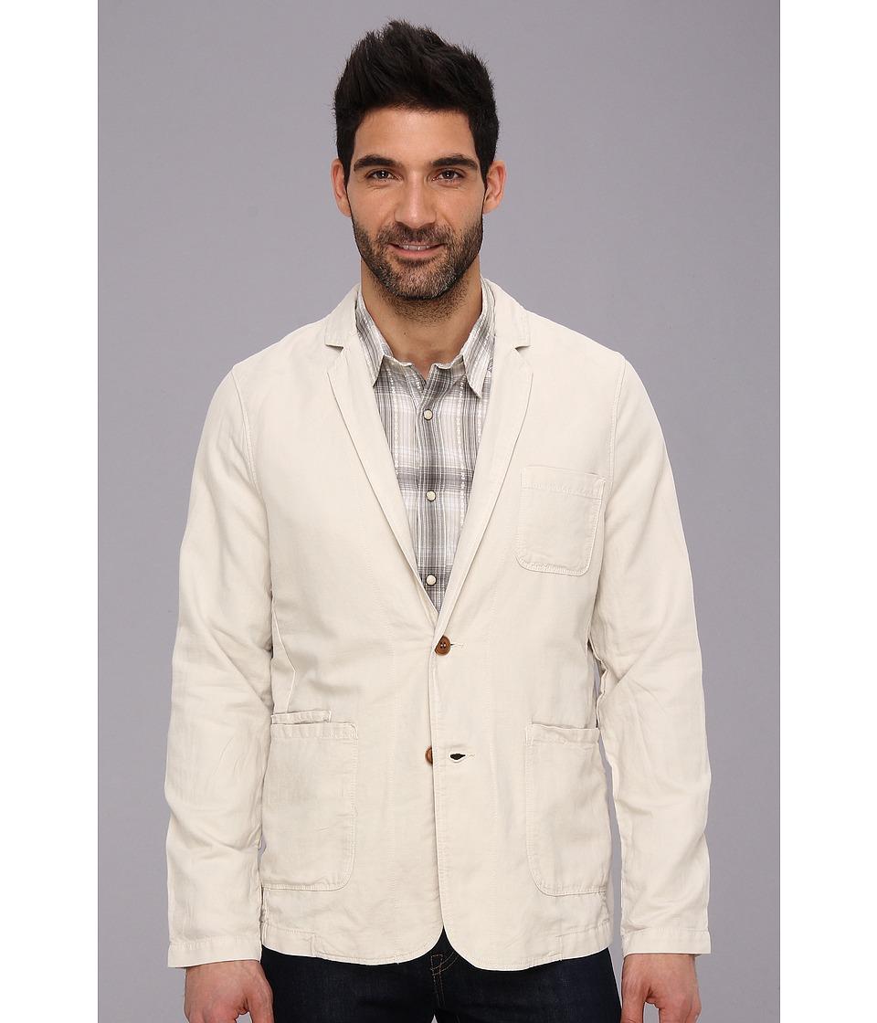 Lucky Brand Westwood Linen Blazer Mens Jacket (Bone)