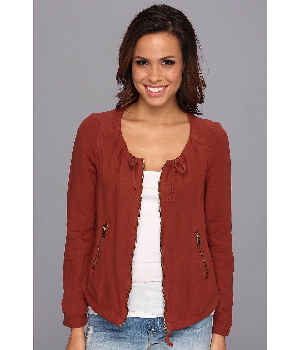 Lucky Brand - Henna Linen Jacket (Burnt Henna) Women's Jacket