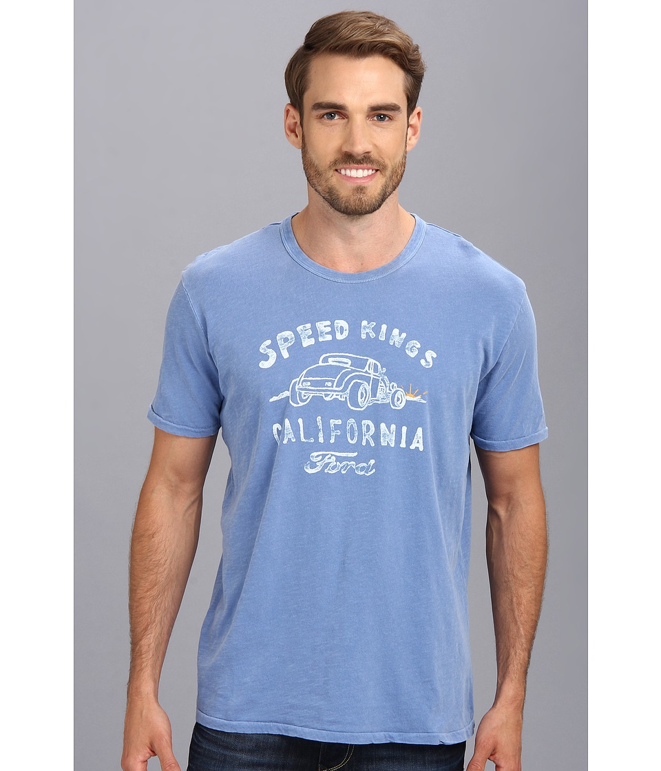 Lucky Brand Speed King Ford Graphic Tee Mens T Shirt (Blue)