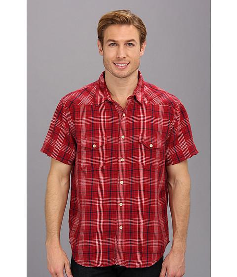 Lucky Brand - Mesa Linen Western Shirt (Salsa) Men
