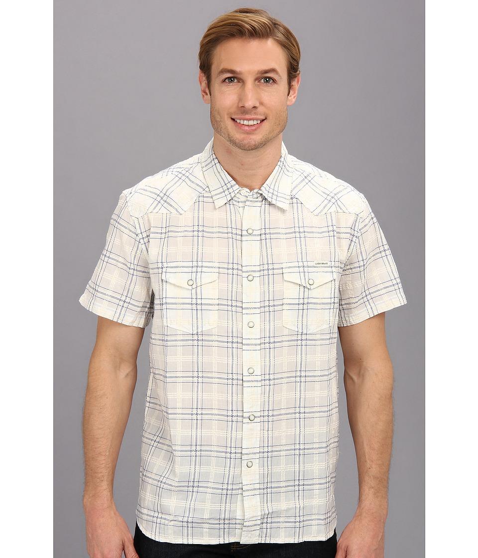 Lucky Brand Summer Western Shirt Mens T Shirt (Blue)