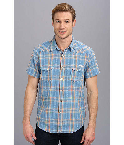 Lucky Brand - Edgewater Western Shirt (Blue/Orange) Men