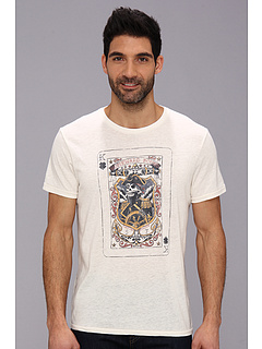 SALE! $16.99 - Save $13 on Lucky Brand Captain Card Graphic Tee (Turtledove) Apparel - 42.41% OFF $29.50