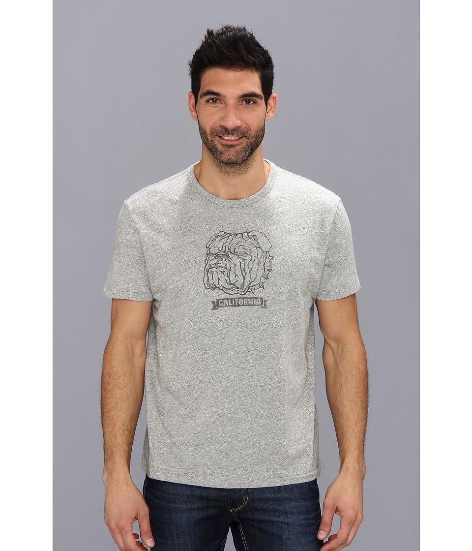 Lucky Brand Bulldog Graphic Tee Mens T Shirt (Gray)
