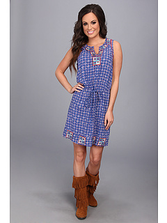 SALE! $64.99 - Save $34 on Lucky Brand Irving Fine Tank Dress (Blue Multi) Apparel - 34.35% OFF $99.00