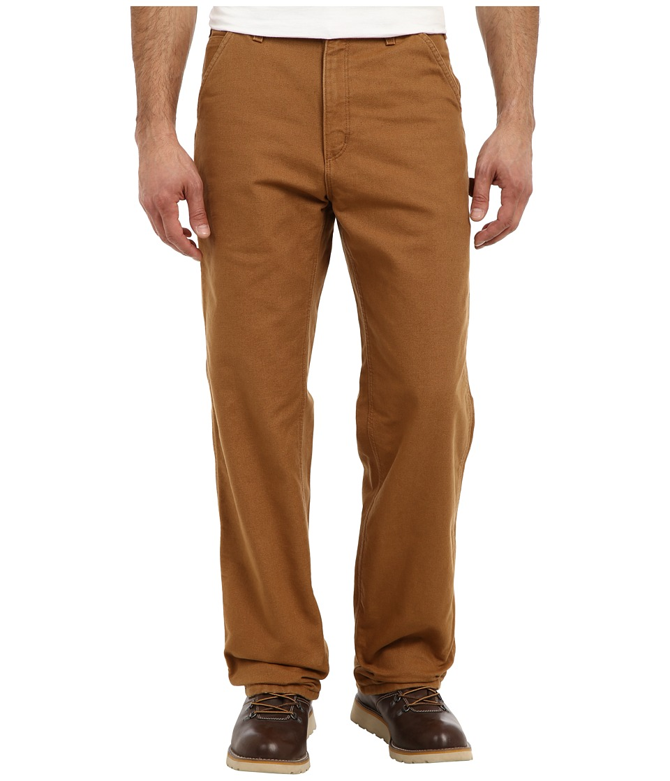 Carhartt - Washed Duck Work Dungaree Flannel Lined (Carhartt Brown) Men's Clothing
