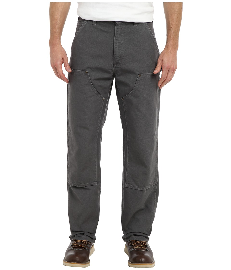 Carhartt - Washed Duck DBL Front Work Dungaree (Gravel) Men's Casual Pants