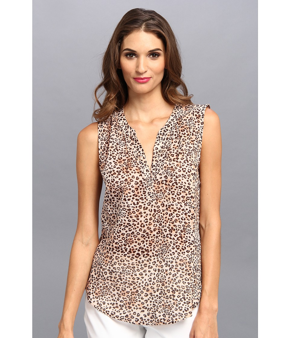 Velvet by Graham & Spencer - Dayna02 Tank Blouse (Cheetah) Women's Blouse