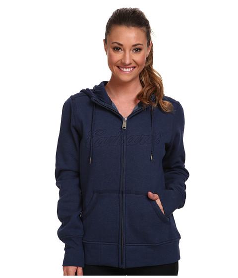 Carhartt - Clarksburg Zip Front Sweatshirt (Indigo Heather) Women
