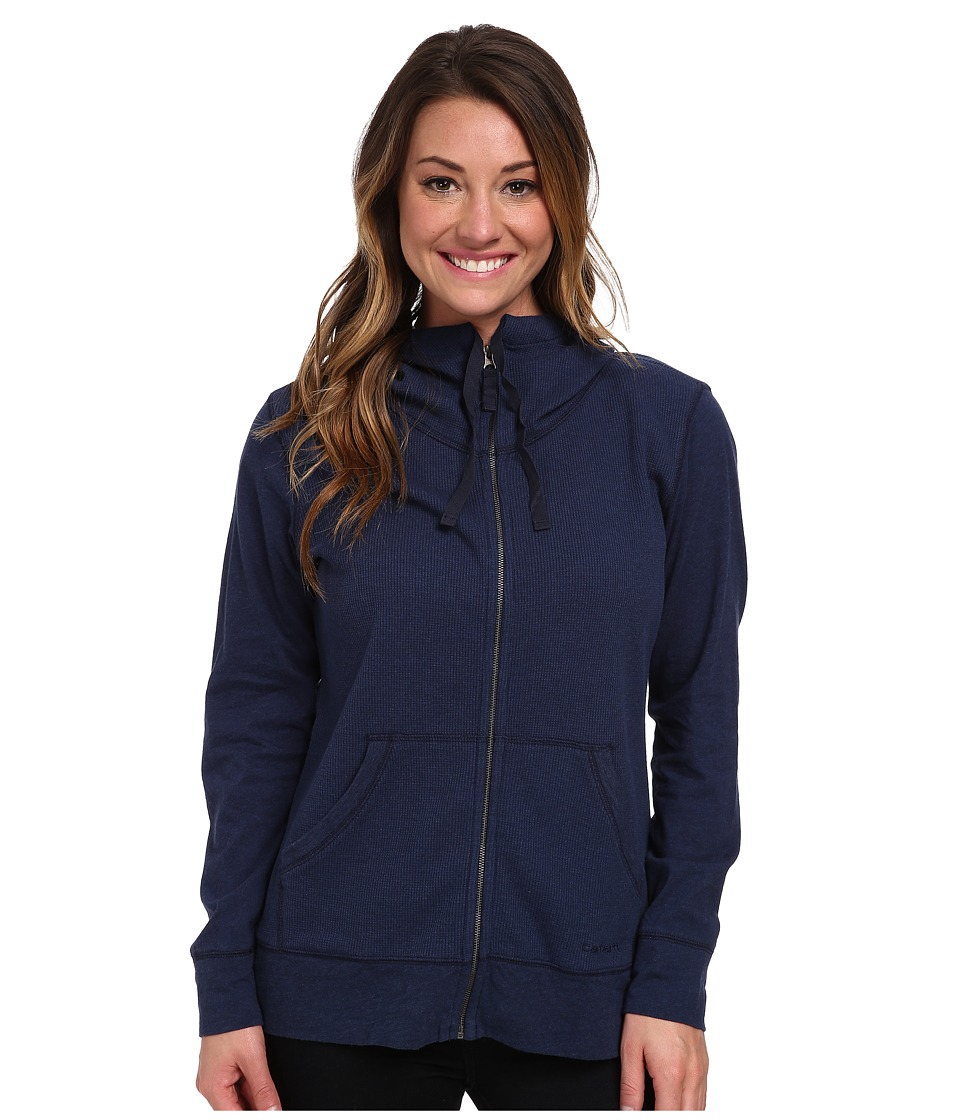 Carhartt - Hayward Zip Front Hoodie (Indigo Heather) Women's Sweatshirt