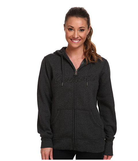 Carhartt - Clarksburg Zip Front Sweatshirt (Black Heather) Women's Sweatshirt