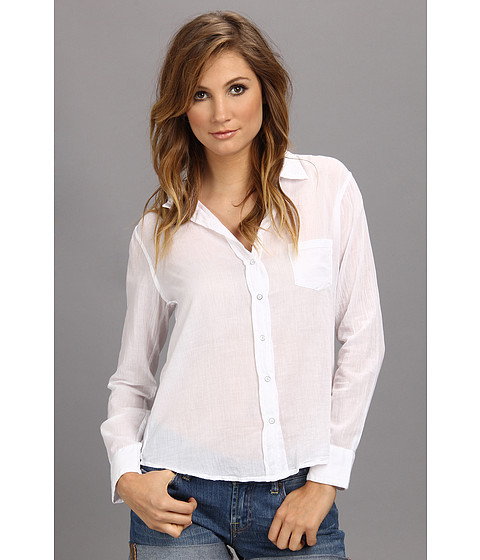 Velvet by Graham & Spencer - Thomasina02 L/S Button-Up (White) Women's Long Sleeve Button Up