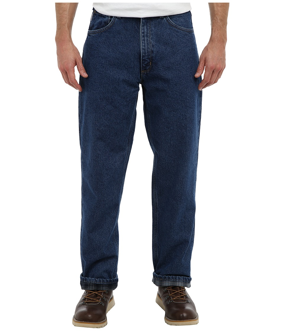 Carhartt - Relaxed Fit Straight Leg Flannel Lined (Darkstone) Men's Jeans