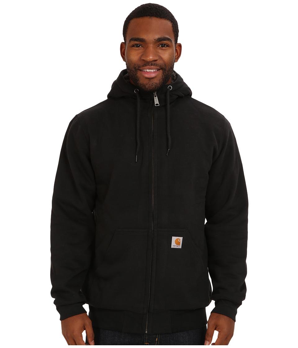 Carhartt - Brushed Fleece Sweatshirt Sherpa Lined (Black) Men's Coat