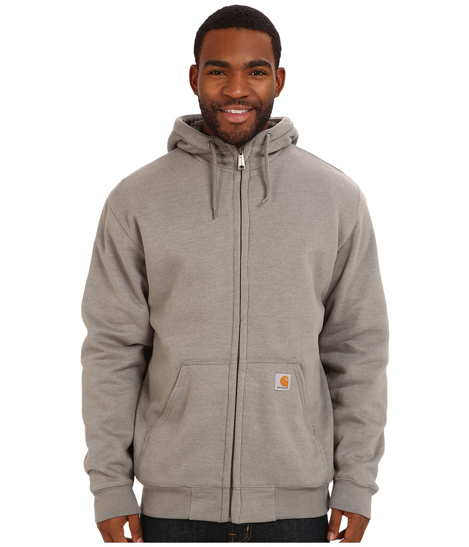 Carhartt - Brushed Fleece Sweatshirt Sherpa Lined (Slate Heather) Men's Coat