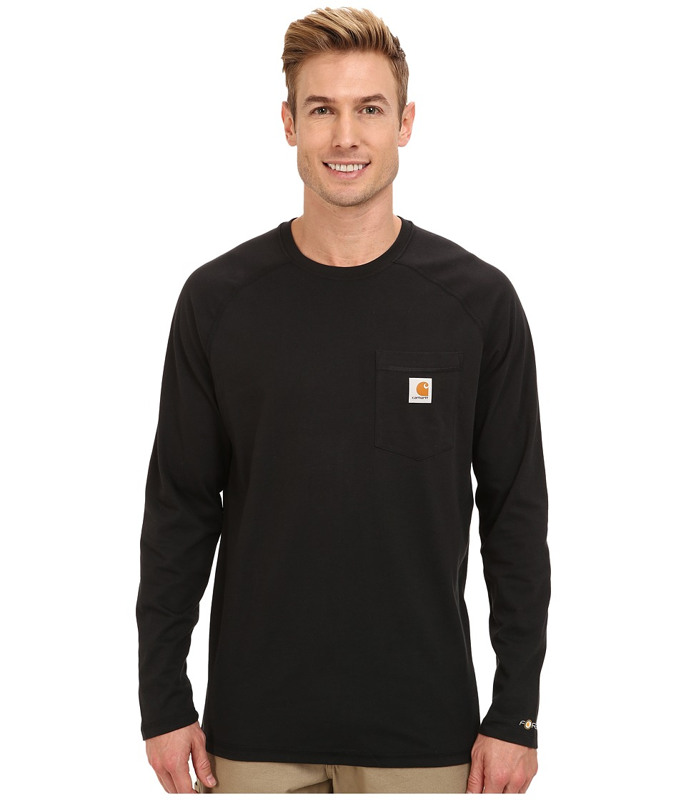 Carhartt - Force Cotton L/S Tee (Black) Men's T Shirt