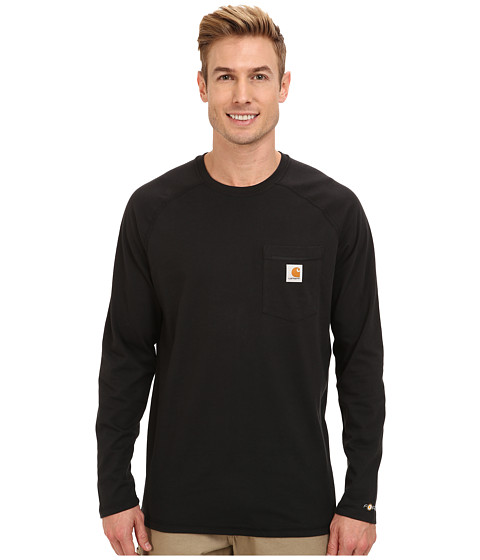 Carhartt - Force Cotton L/S Tee (Black) Men