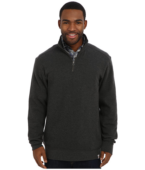 Carhartt - Sweater Knit Quarter Zip (Carbon Heather) Men's Sweater